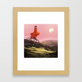 Orange Explorer Framed Art Print