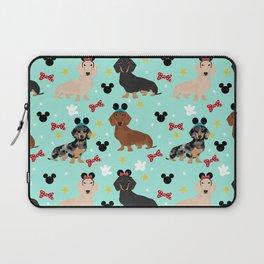 dachshund theme park vacation dogs Laptop Sleeve