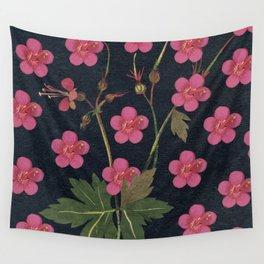Strawberry Mary blossom Wall Tapestry