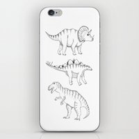 dinosaurs iPhone & iPod Skins featuring dinosaurs by Hannah Elizabeth
