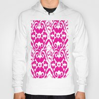 ikat Hoodies featuring Ikat Pink by Leap of Faith Clothing