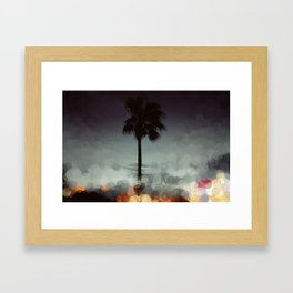 Tall Palm Trees Framed Art Print