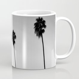 Black and White San Diego Palms - California Coffee Mug