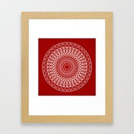 Christmas mandala Framed Art Print