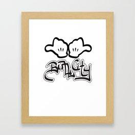 """""""Horns Up!"""" Framed Art Print"""