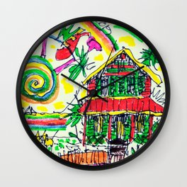 ChelleRay in Key West Wall Clock