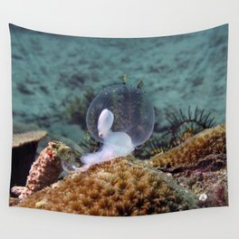 Birth of marine cuttlefish Wall Tapestry