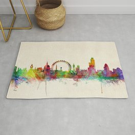 London Skyline Watercolor Rug