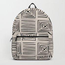 Decorative Geometric Mudcloth Pattern Backpack