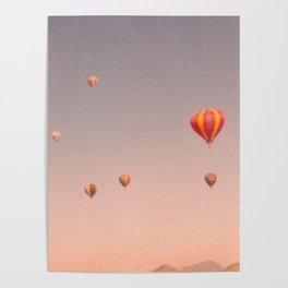 vintage hot air balloons in rio Poster