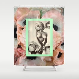 Pin Up Fleur Shower Curtain