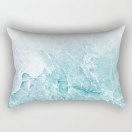 Sea Dream Marble - Aqua and blues Rectangular Pillow