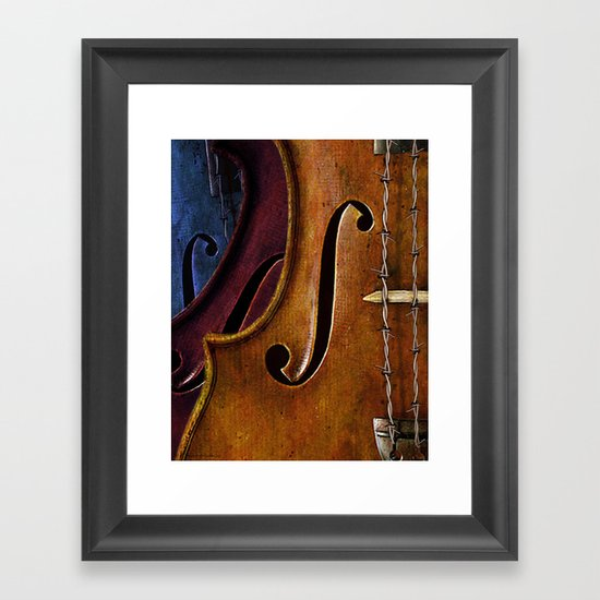 Violin Composition Framed Art Print