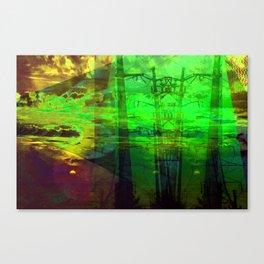 Sunset Transformer II- Toxic Green Canvas Print