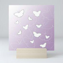 Butterflies | lilac color Mini Art Print