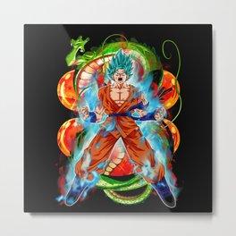 Goku Kaio-Ken Blue Metal Print