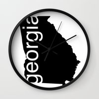 georgia Wall Clocks featuring Georgia by Isabel Moreno-Garcia