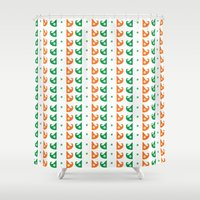 irish Shower Curtains featuring Irish mustache by Cindys