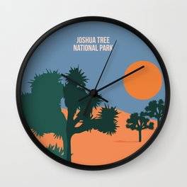 Enjoy The Sun And Explore The Wilderness Of The Joshua Tree National Park Wall Clock