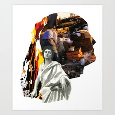 She Doesn't Look Back,  Knows He's Broken Art Print