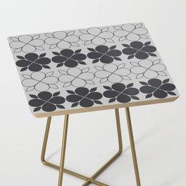 Black and Grey Flower Tile Side Table