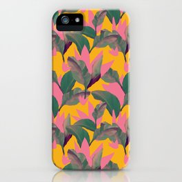 Retro Luxe Lilies Pattern iPhone Case