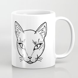 Cat Dotwork Coffee Mug