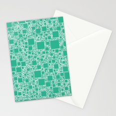 Boxes Teal Stationery Cards