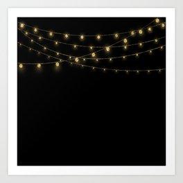 Gold rich Glitter Chain- Treasure Sparkle Art Print