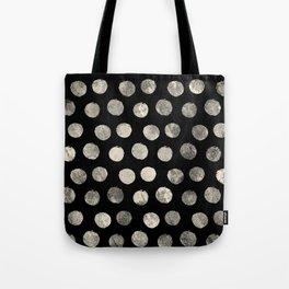 Cream Brushed Polka Dots Tote Bag