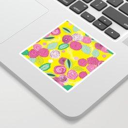 Belles Fleurs - roses bright pattern Sticker