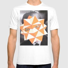 Stratos White Mens Fitted Tee MEDIUM
