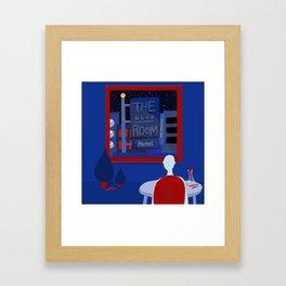 In the blue hotel Framed Art Print
