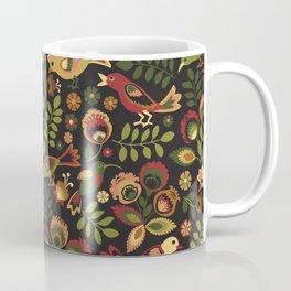 Folk Birds Coffee Mug