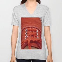 Red Sneaker Unisex V-Neck
