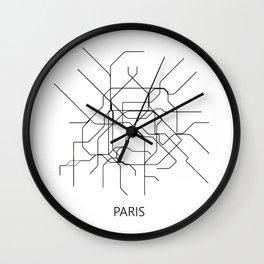 Paris map poster, map of paris poster, paris map, paris city map, paris print, map wall art Wall Clock