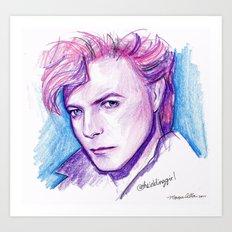 Darling David Art Print