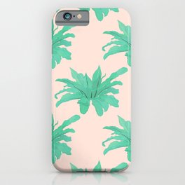 Trendy Tropical Green Plants Foliage Modern Design iPhone Case