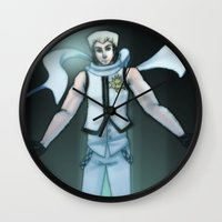 vocaloid Wall Clocks featuring VOCALOID Zane by Witchy