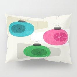 Retro Holiday Baubles Pillow Sham