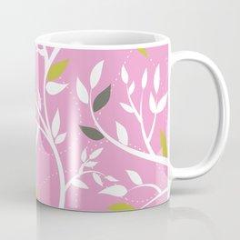 Elegant botanical pattern branches leaves dusty pink Coffee Mug