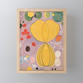 Hilma af Klint Modern Abstract Painting Framed Mini Art Print