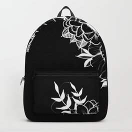 Etched Floral Backpack