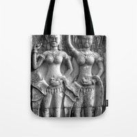 erotic Tote Bags featuring Cambodian Erotic Goddesses by 1976