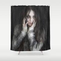 vampire Shower Curtains featuring Vampire by Justin Gedak