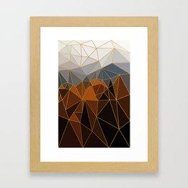 Autumn abstract landscape 4 Framed Art Print