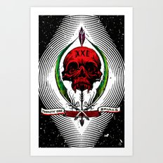 XXI Skulls Poster  Art Print