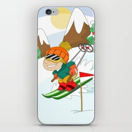 Winter Sports: Skiing iPhone Skin