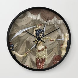 Midnight Circus: Sword Dancers Wall Clock