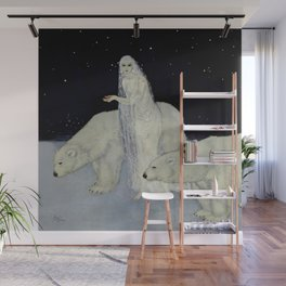 """The Snow Queen"" Fairy Tale Art by Edmund Dulac Wall Mural"